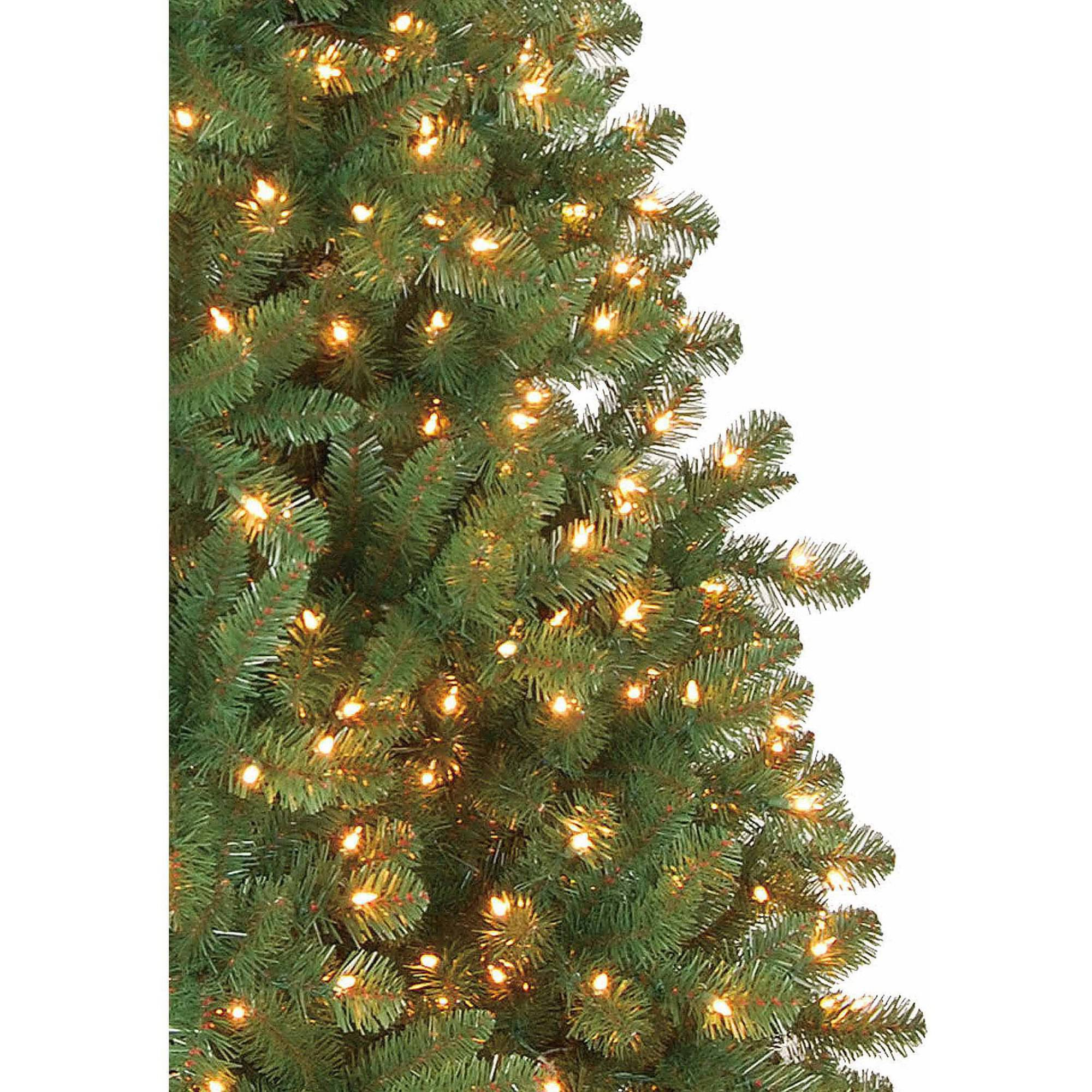 holiday time prelit 7u0027 duncan fir artificial christmas tree clear lights walmartcom
