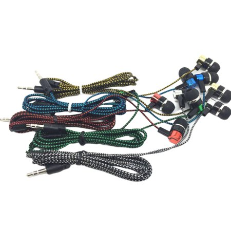 Braided Wiring Plating Headset Line K Song Mobile Phone Mp3 Headset Universal - image 5 of 8