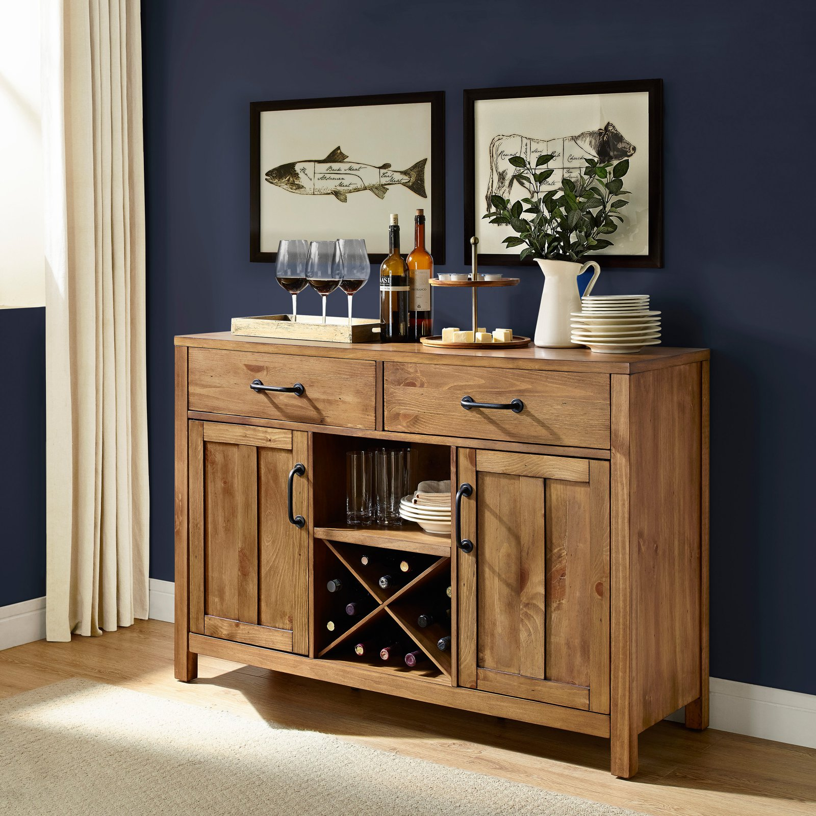 Crosley Furniture Roots Buffet, Natural