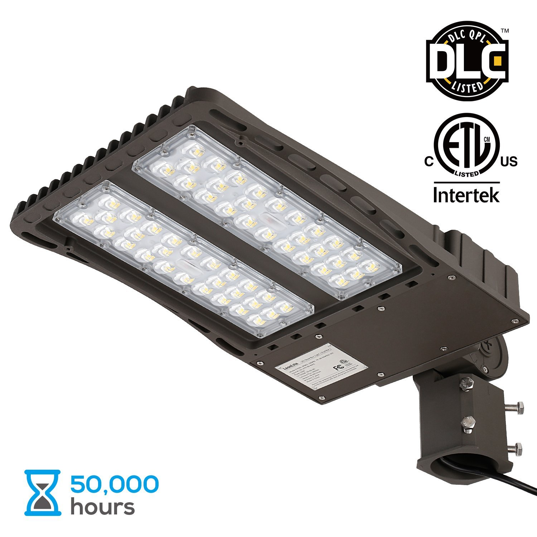 LEONLITE Ultra Bright LED Parking Lot Light with Photocell, 150W, Slipfitter