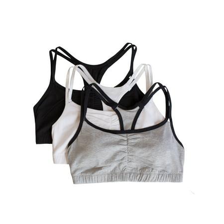 Women's Strappy Sports Bra, Style9036, 3-Pack