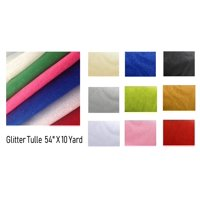 "54"" by 10 yards (30 ft) Glitter Tulle Fabric bolt for wedding and decoration"
