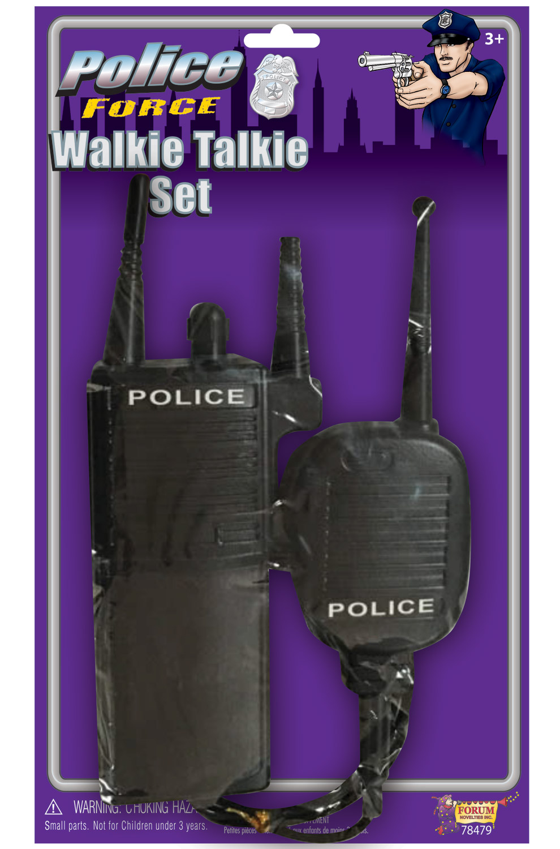 Non-functioning Forum Novelties Police Walkie Talkie Set