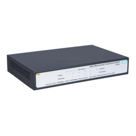 Hp Officeconnect 1420 5G Poe   32W  Switch   5 Ports   10 100 1000Base Tx   5 X Network   Twisted Pair   Gigabit Ethernet   2 Layer Supported   Rack Mountable  Desktop   3 Year  Jh328a Aba