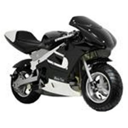 MotoTec 33cc 2-Stroke Gas Powered Pocket Bike Mini Motorcycle Black