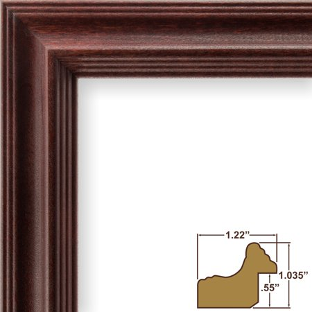 Craig Frames Tulip Poplar, Traditional Dark Cherry Red Picture Frame, 24 x 24 (Pink Tulip Pictures)