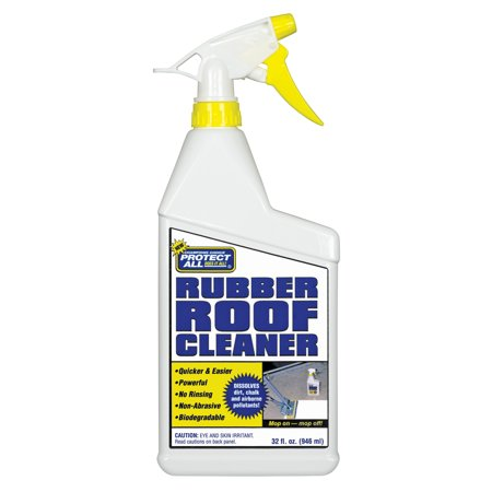 RV Rubber Roof Cleaner - Non-Toxic / Non-Abrasive RV Roof Detergent 32 oz - Protect All 67032