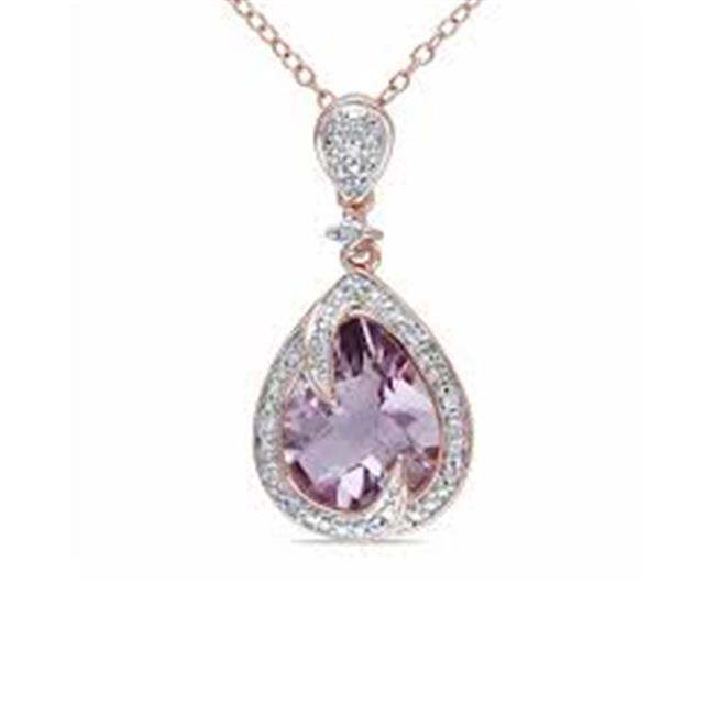 Elegant Color & Diamond Circle Pendant, Amethyst - One Size - image 1 of 1