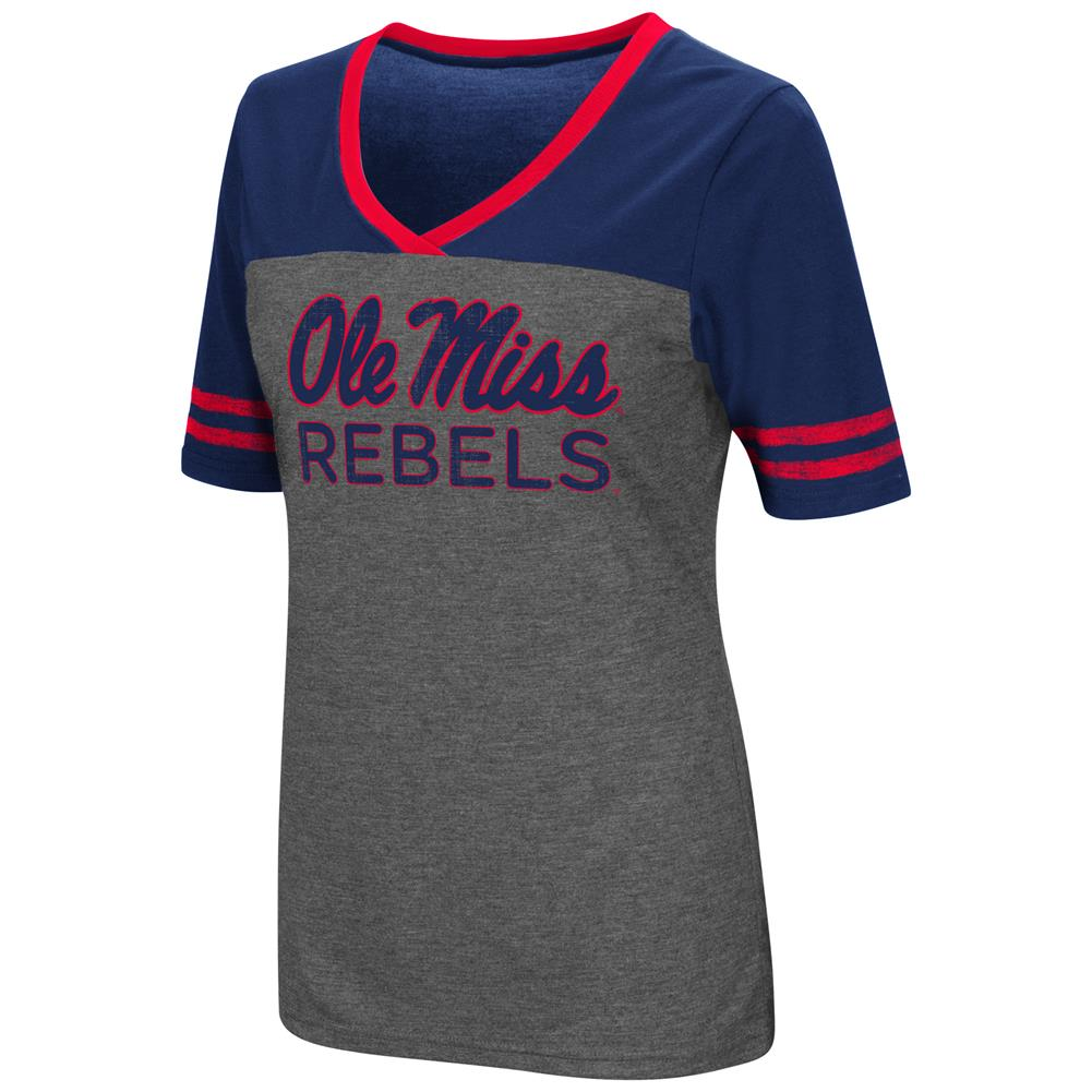 Ladies Colosseum Mctwist Ole Miss Rebels Jersey T Shirt