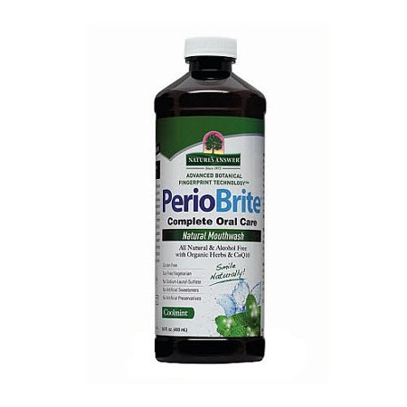 Nature's Answer PerioBrite Alcohol-Free Mouthwash, Cool Mint, 0.47