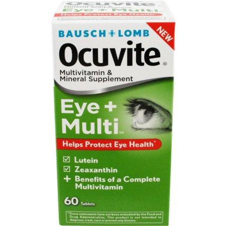 Eye Multivitamin (2 Pack Bausch + Lomb Ocuvite Eye + Multivitamin 60 Tablets Each )