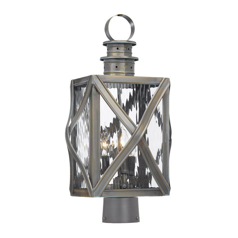 Elk Lighting Dune Road 2143-WB Outdoor Post Lantern in Solid Brass & Olde Bay Finish by Artistic