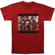 Run DMC Men's  Brick Wall Slim Fit T-shirt Maroon