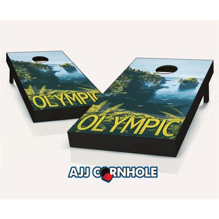 AJJCornhole 107-NP-Olympic Olympic Theme Cornhole Set with Bags - 8 x 24 x 48 in. - Olympic Themed Crafts