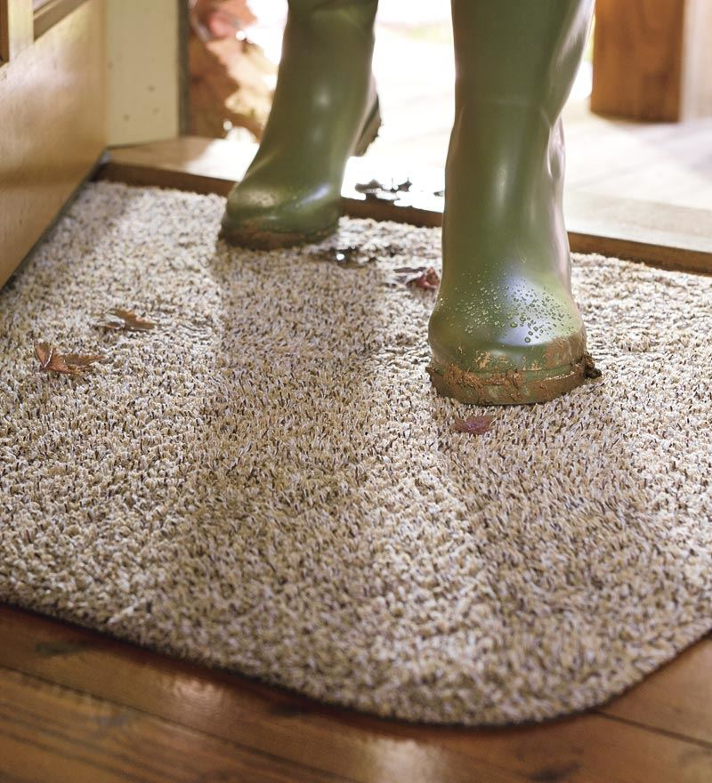 Plow & Hearth Microfiber Medium Sized Mud Rug With Non Sk...