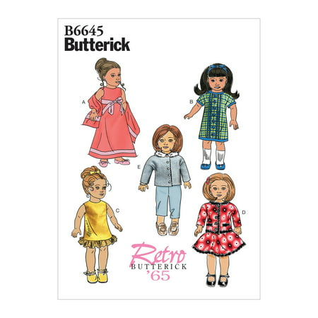 """Butterick Pattern Clothes For 18"""" Doll Sizes One Size Only"""