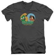 Gumby 60Th Mens V-Neck Shirt