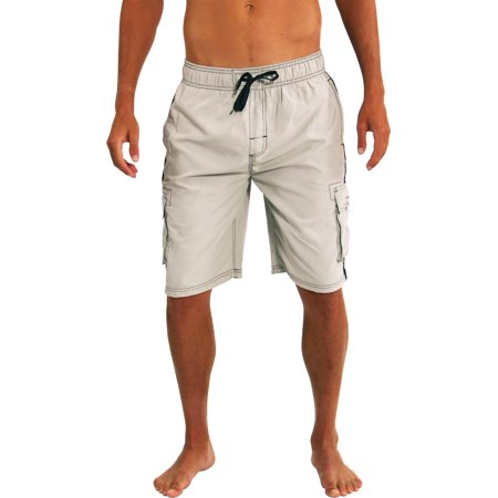 23cb48d6d3 Norty Mens Swim Trunks - Watershort Swimsuit - Cargo Pockets - Drawstring  Waist Bathing Suits and