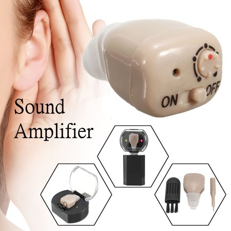 Parabolic Listening Device (2019 NEW Rechargeable Mini In Ear Hearing Aids Adjustable Tone In visible Digital Sound Amplifier Kit Volume Voice Assisted Listening Device Father's Day Gift )