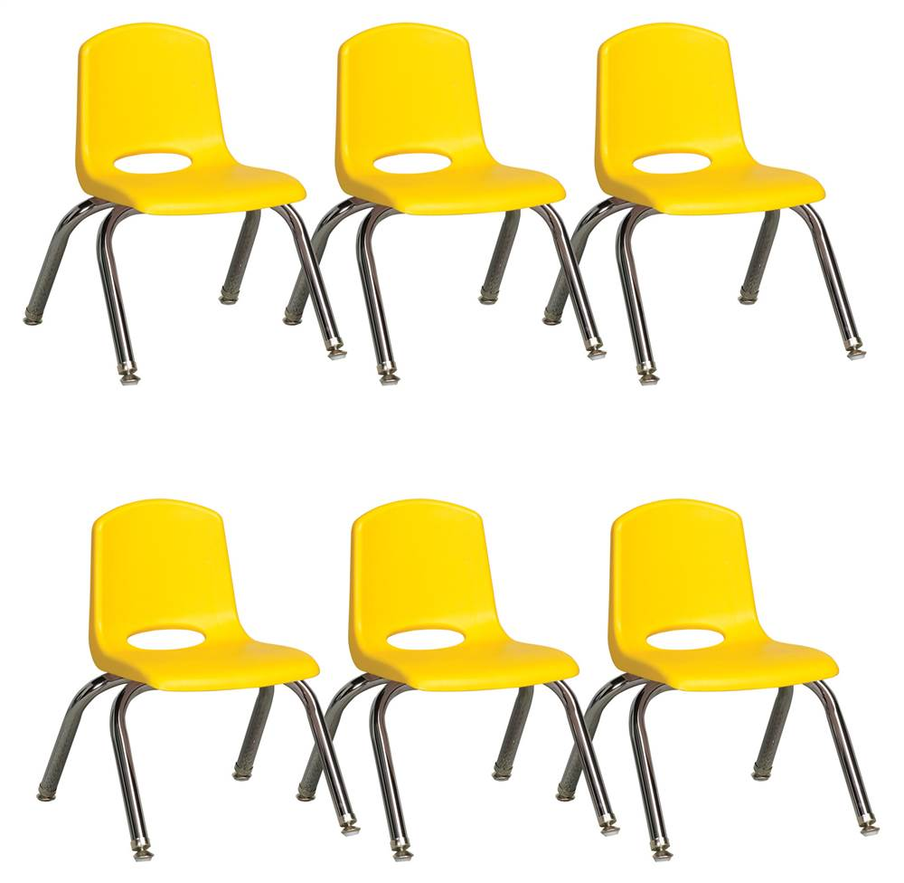 Stack Chair in Yellow - Set of 6