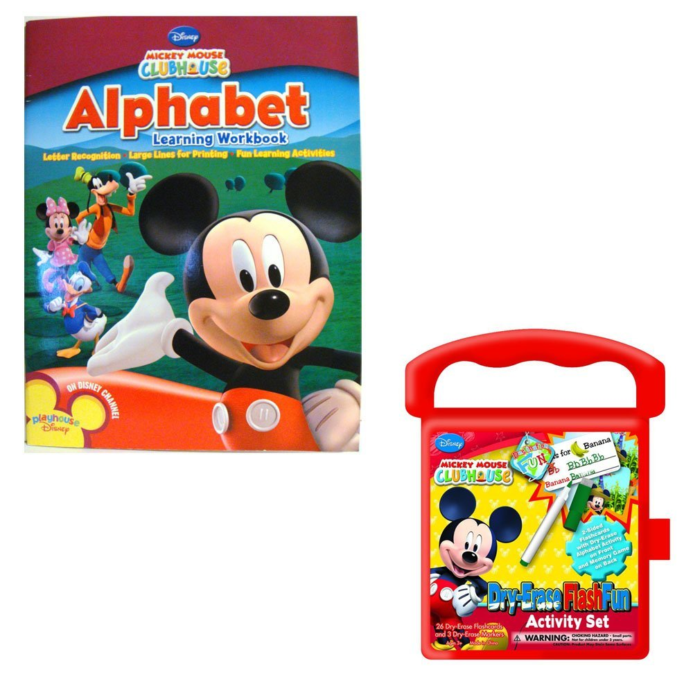 Disney Mickey Mouse Alphabet Learning Workbook With Reward Stickers and National Design... by
