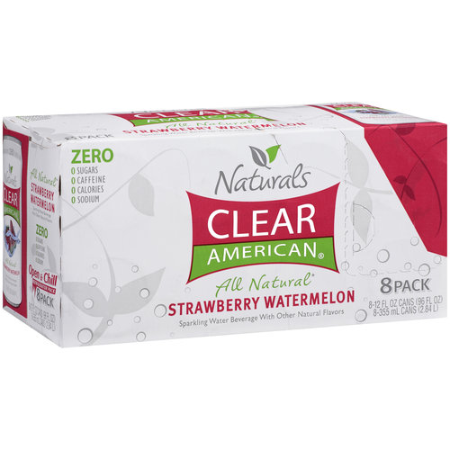Clear American Strawberry Watermelon Sparkling Water, 8ct