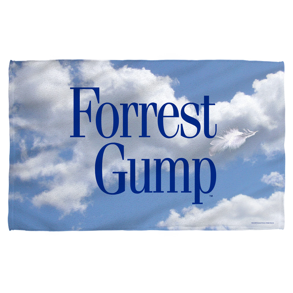 Forrest Gump Feather Beach Towel White 36X58