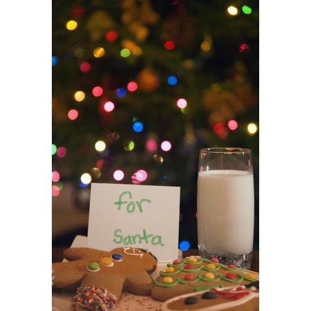 Milk And Cookies For Santa - Cookies And Milk