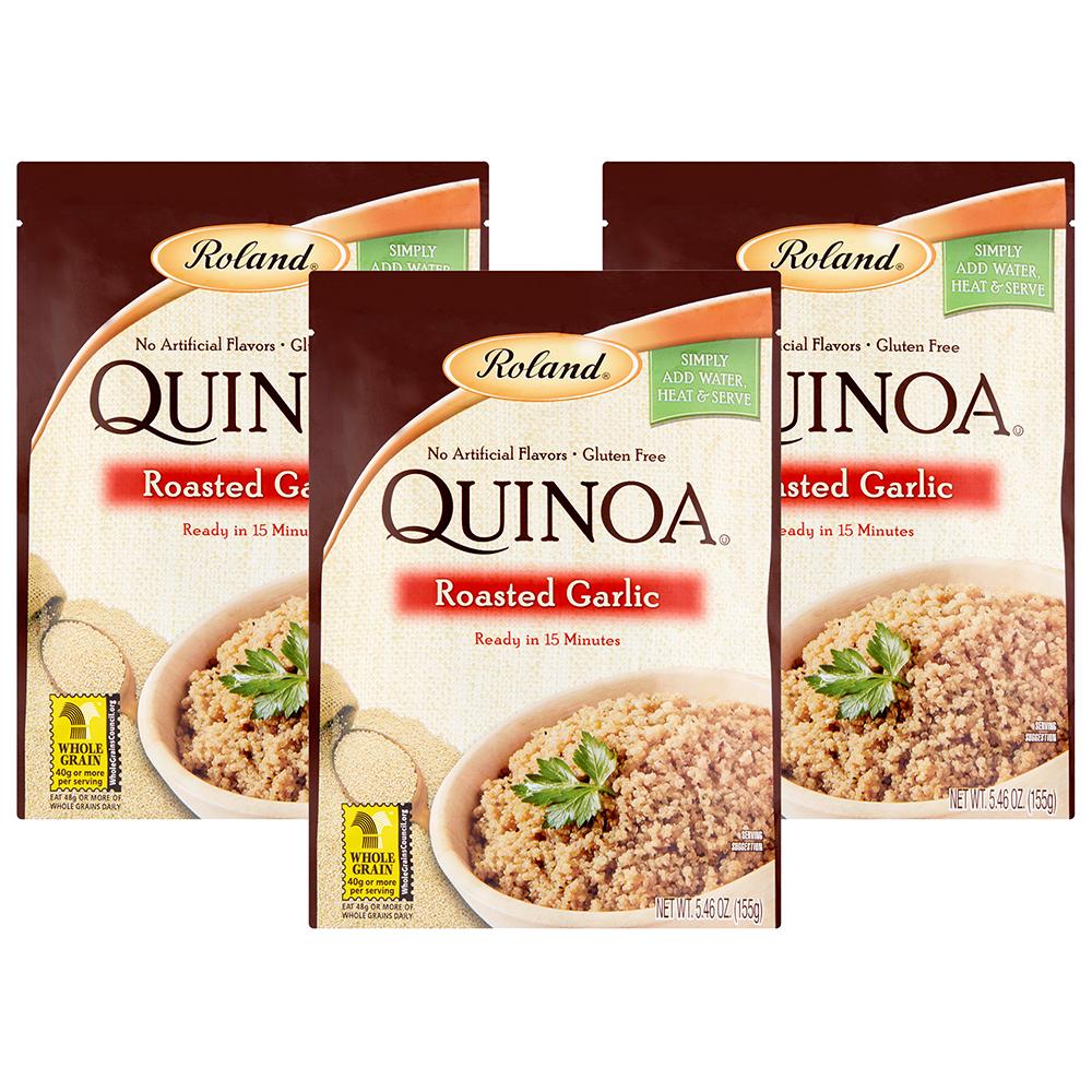 (3 Pack) Roland Roasted Garlic Quinoa, 5.46 oz