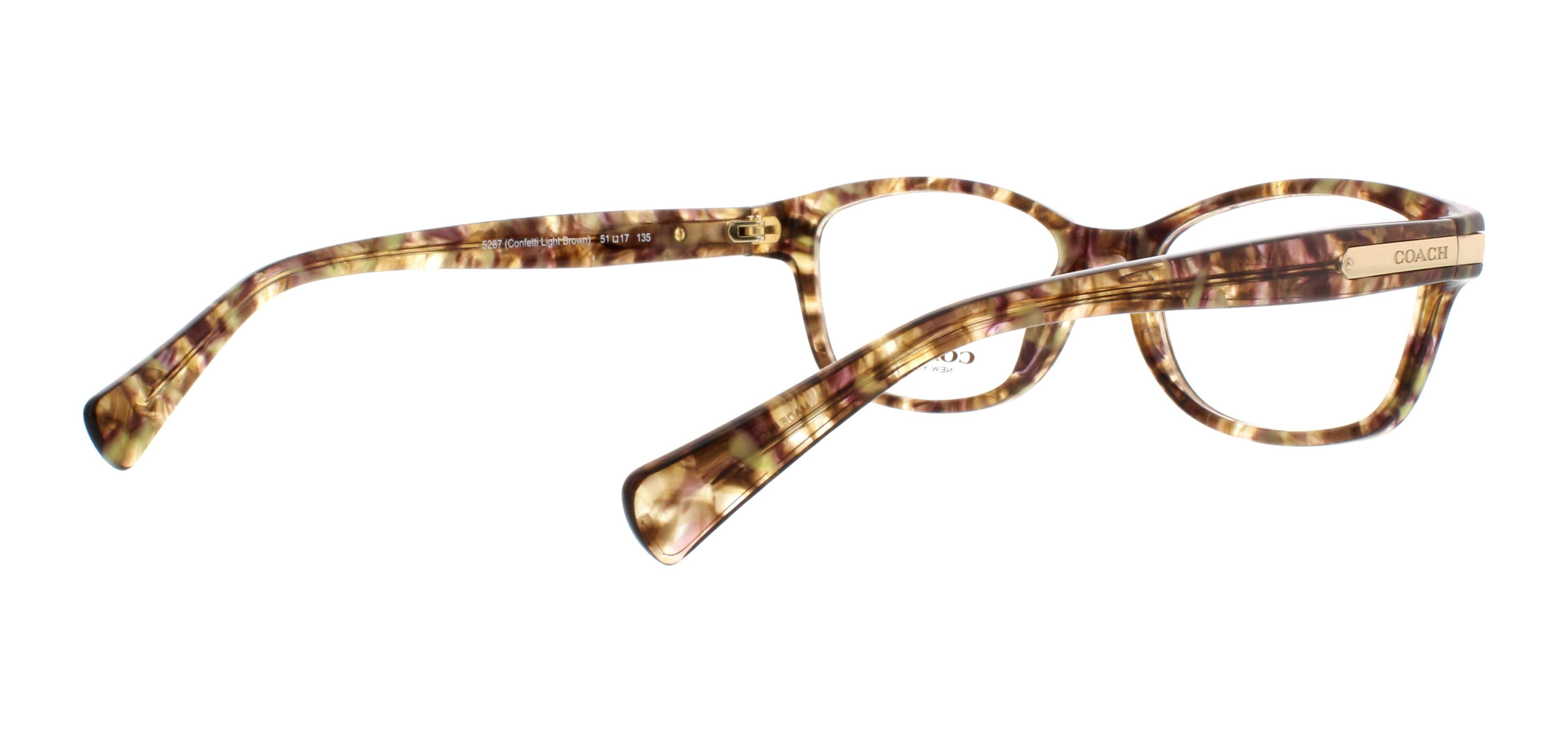 COACH Eyeglasses HC6065 5287 Confetti Light Brown 51MM - Walmart.com