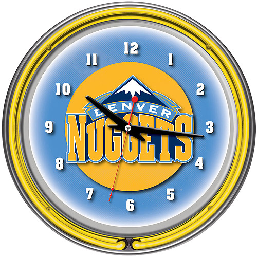 "Denver Nuggets NBA 14"" Neon Wall Clock"