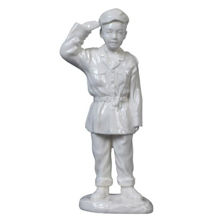 Dreams Porcelain (6 Inch All White Porcelain Oriental Youth in Uniform Childhood Dream )