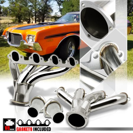 Big Block Exhaust Manifold Bolt - Stainless Steel Exhaust Header Manifold for Ford Big Block Hugger 7.5 429/460 V8 71 72 73 74 75 76 77