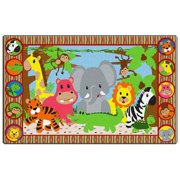 Flagship Carpets FE397-44A Rectangle Jungle Matching Fun Carpet, 7 ft. 6 in. x 12 ft.