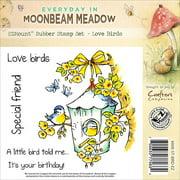 "Crafter's Companion Moonbeam Meadow Everyday EZMount Stamp Set 4.75""X4.75""-Love Birds"