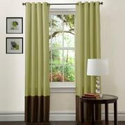"Prima Green/Chocolate Window Curtains, Set of 2, 54"" x 120"""