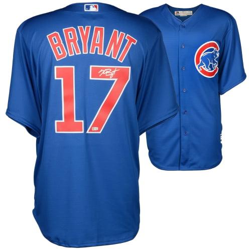 Kris Bryant Chicago Cubs Autographed Blue Replica Jersey - Fanatics Authentic Certified