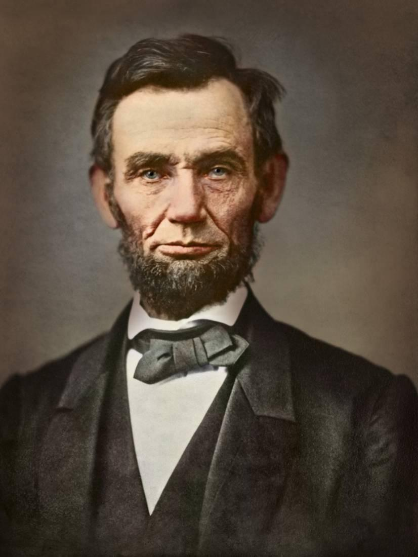 graphic relating to Printable Pictures of Abraham Lincoln titled Basic Portrait of President Abraham Lincoln Print Wall Artwork Via Stocktrek Pics