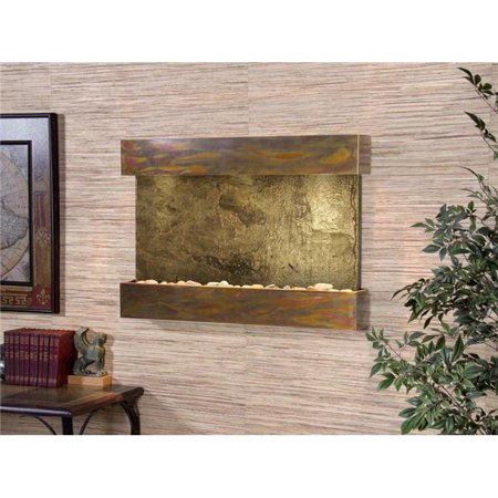 Adagio RCS1002 Reflection Creek Rustic Copper Green Natural Slate Wall Fountain