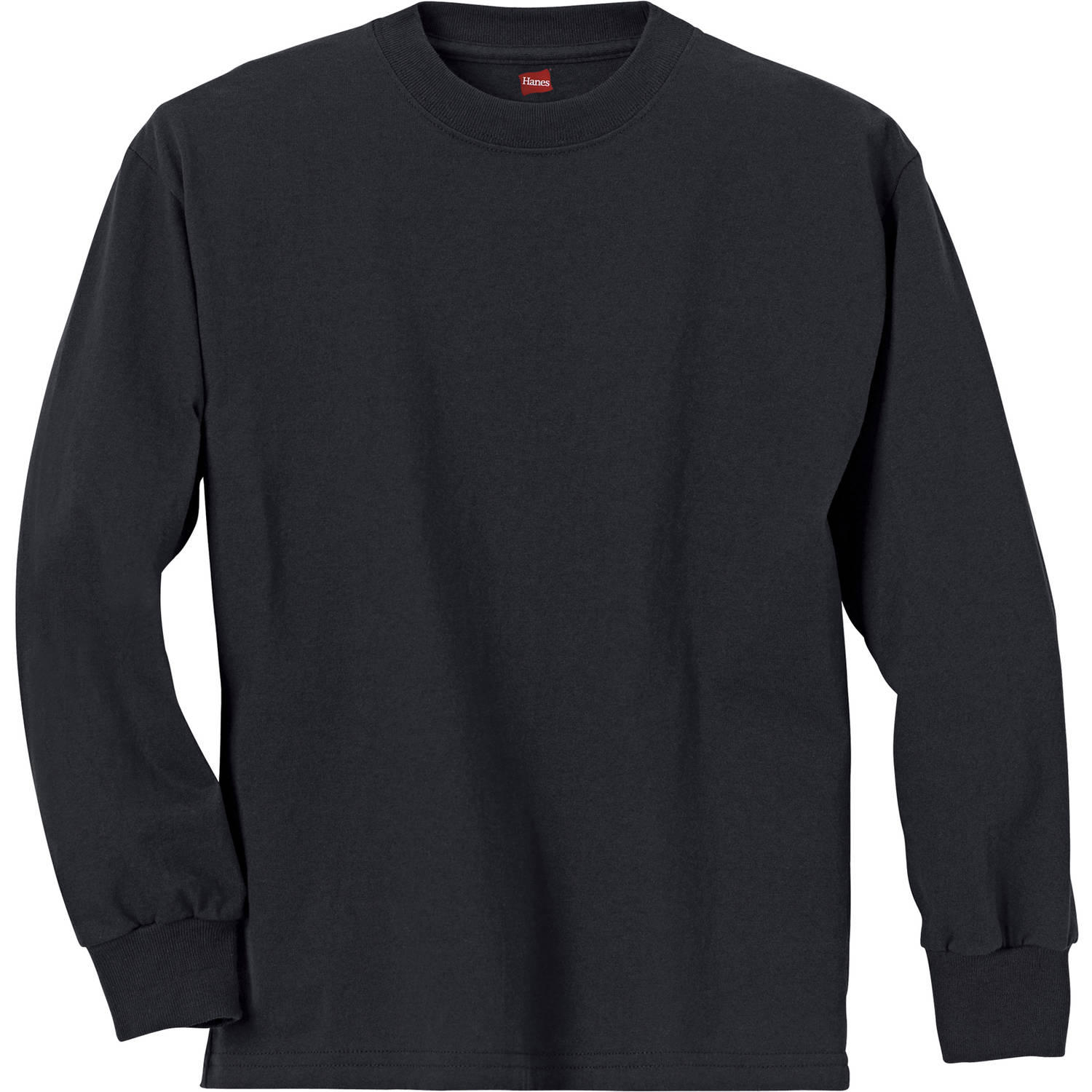 Hanes Boys' Long Sleeve Beefy Tees