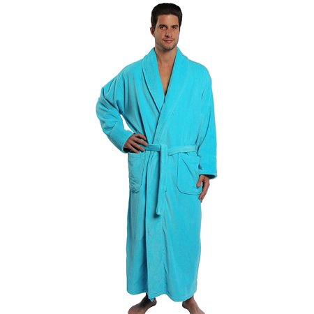 TurkishTowels Parador Terry Velour Bathrobe, 100% Combed Pure Cotton, Made In - Turkish Terry Velour