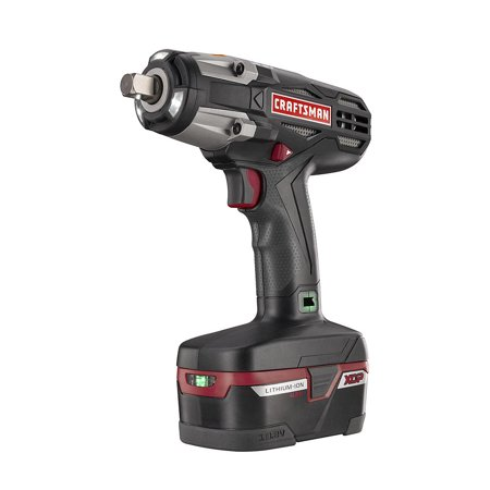 Craftsman Impact Wrench Kit 1/2 in. 19.2V 4ah XCP Lithium Ion Battery