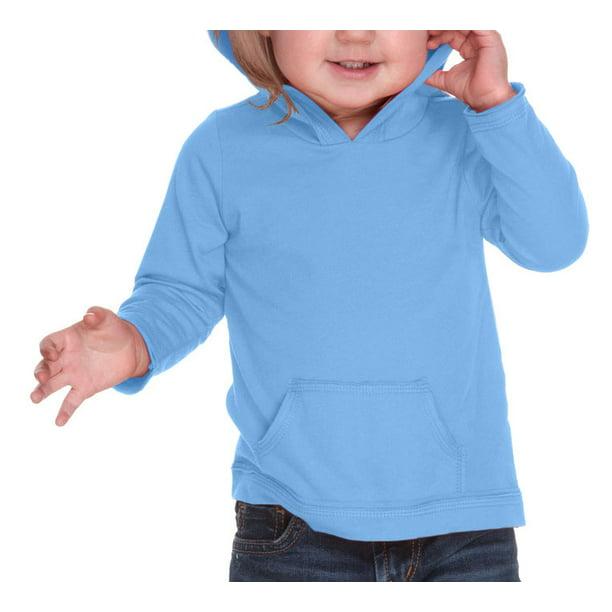 Kavio Infants Jersey RawEdge High Low Long Sleeve Hoodie w.Pouch