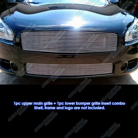 2002 Nissan Maxima Grill (Fits 2009-2014 Nissan Maxima Billet Grille Grill Combo Insert )