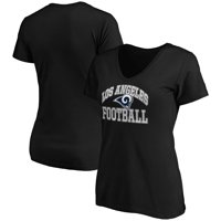 Los Angeles Rams Majestic Women's Showtime Franchise Fit V-Neck T-Shirt - Black