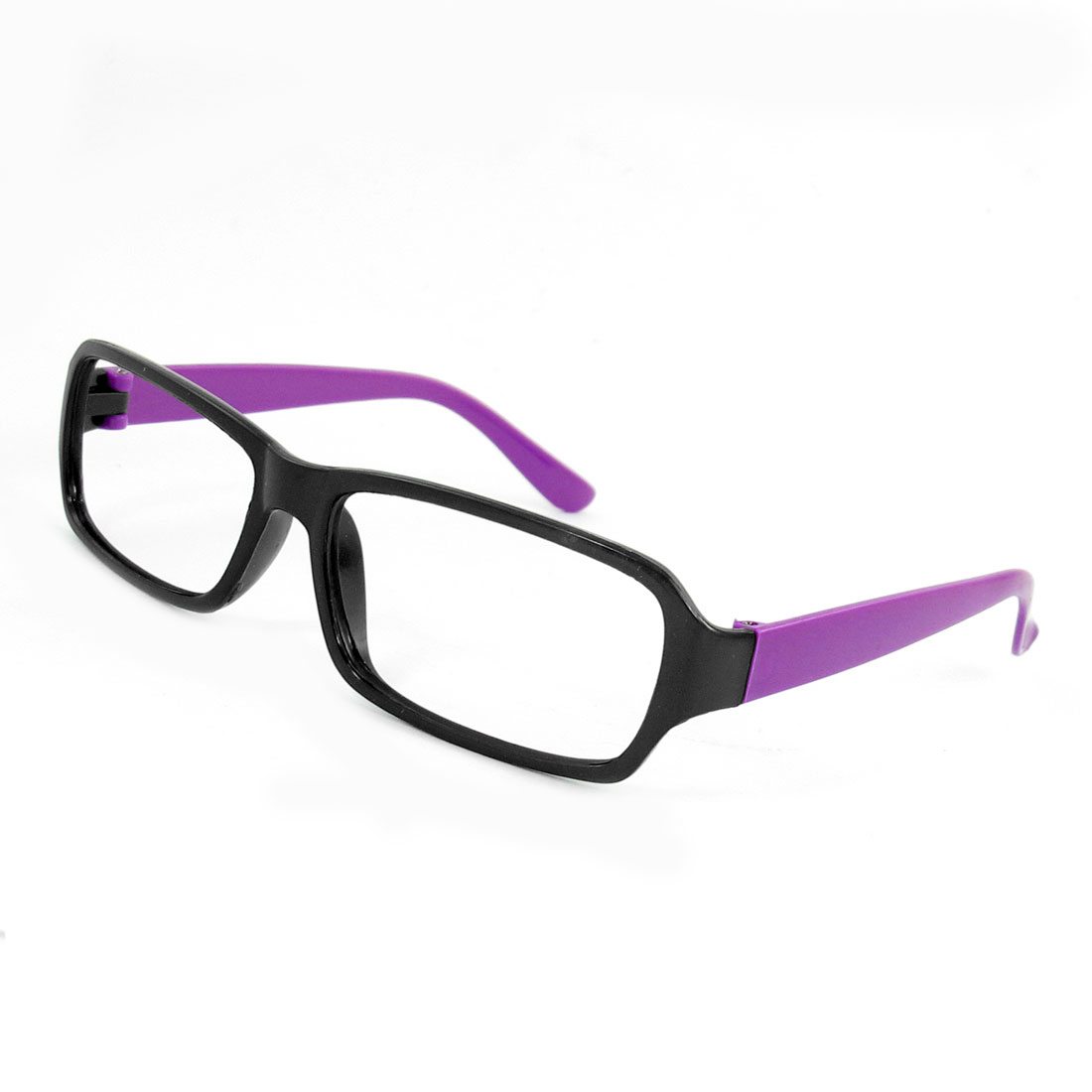 Black Purple Plastic Full Rim Eyewear Glasses Eyeglasses Frame ...