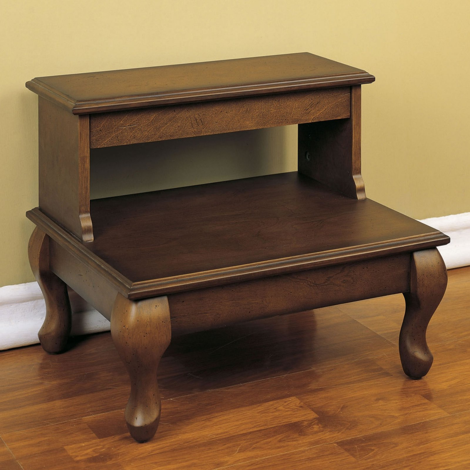 High Quality Powell Attic Cherry Bed Steps With Drawer   Antique Cherry