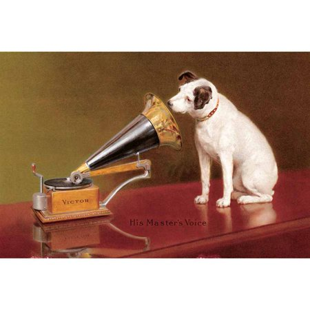 His Master's Voice Ad Vintage Advertising Art Print