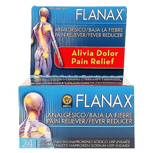 Flanax Pain Reliever/Fever Reducer Tablets, 220mg 24 ea (Pack of 4)