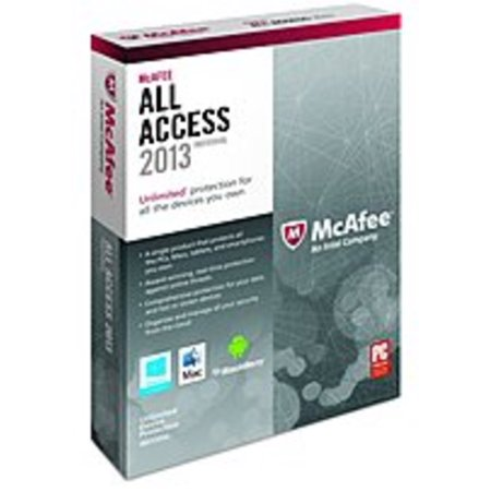 Refurbished McAfee AAI13EMB1RAA All Access Individual 2013 for Windows - Complete Package - 1